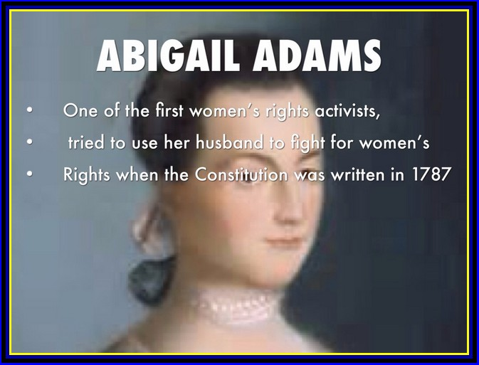 the role abigail adams played in the fight for women rights