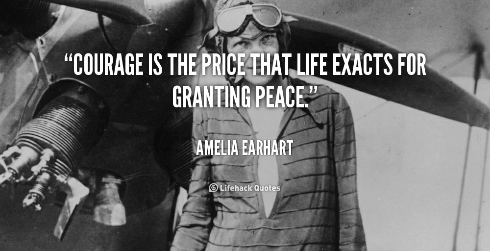 the courage of amelia earhart This claim had originally been raised in the book amelia earhart coolness under pressure, courage and goal-oriented career along with the circumstances of.