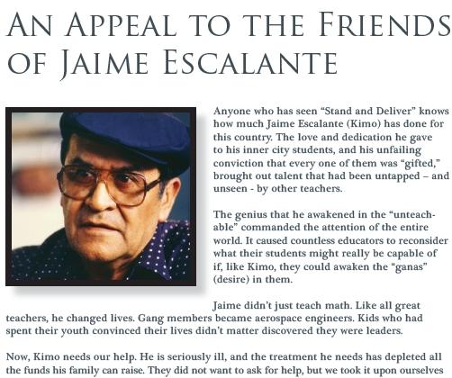Jaime Escalante Quotes Education. QuotesGram Jaime Escalante Quotes