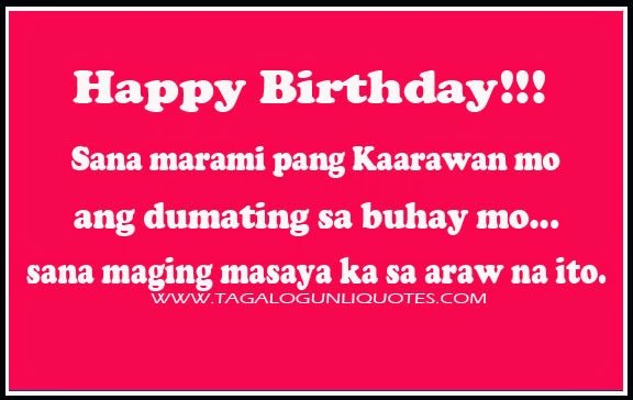 Filipino Birthday Quotes. QuotesGram