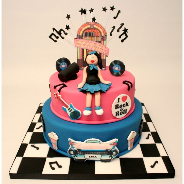 Rock And Roll  S Birthday Cake