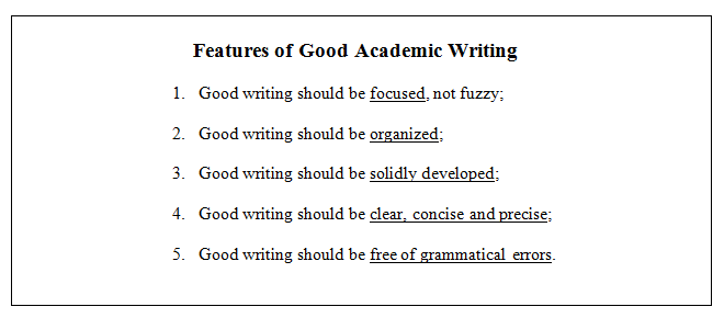 Features of a good essay writing business paper topics research