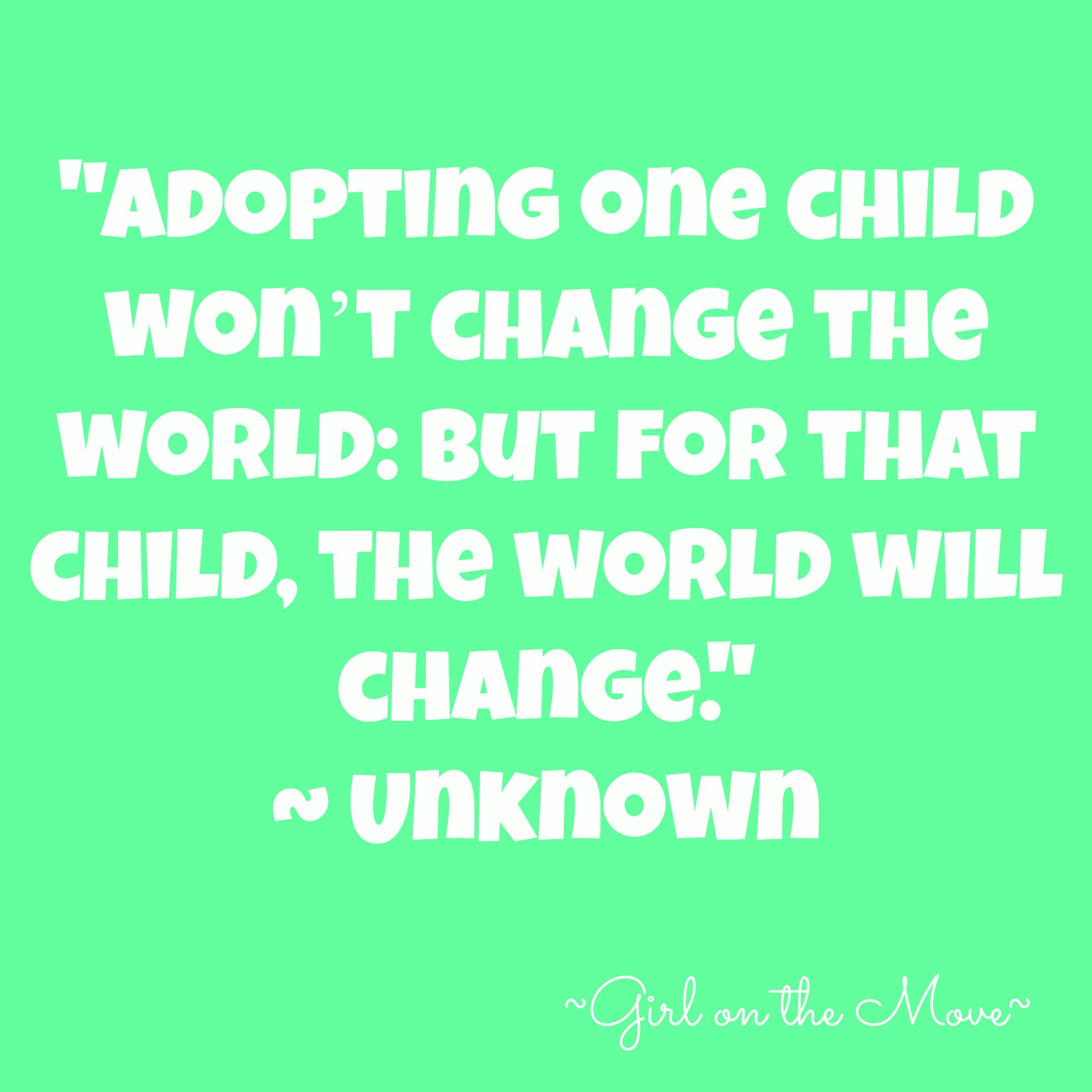 National Adoption Month Quotes Quotesgram