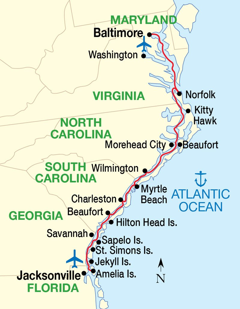 Diagram Of Us Map Of East Coast Download More Maps Diagram And - Map us beaches