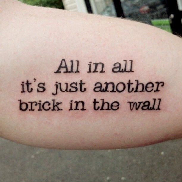 Flower Tattoos Quotes And Sayings Quotesgram: Brick Wall Quotes. QuotesGram
