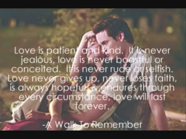 a walk to remember love quotes - photo #10