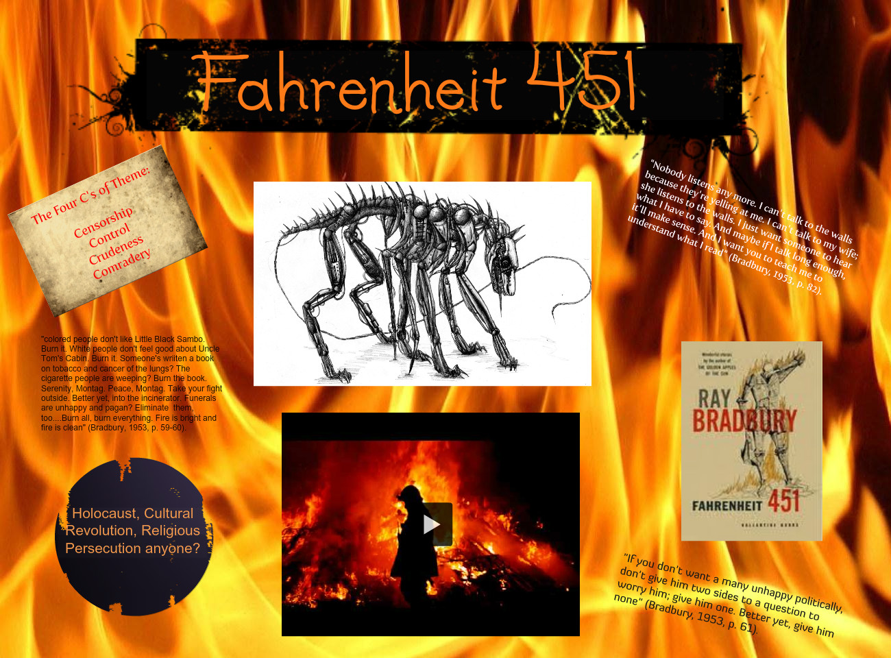 Farenheit 451 Book vs. Movie