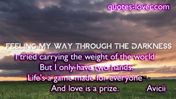 Carrying The Weight Quotes. QuotesGram