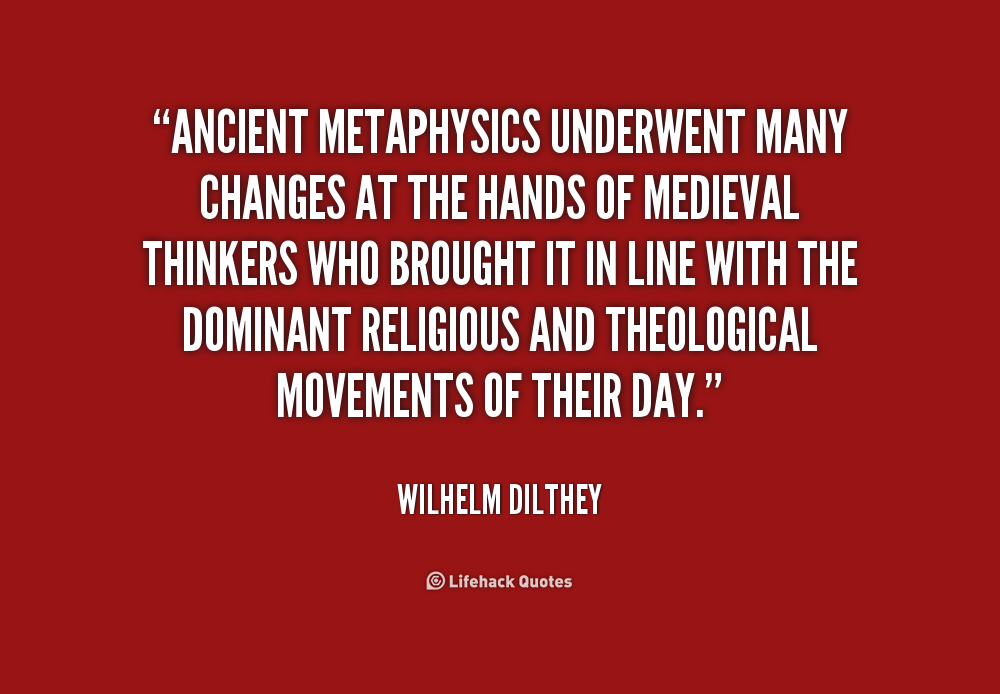 Study of metaphysics