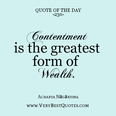 Contentment Quotes