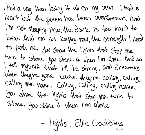 Lyrics for explosions by ellie goulding