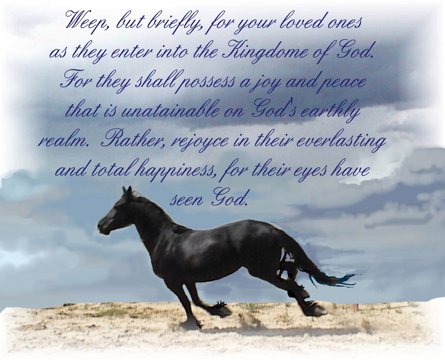 Sympathy Quotes Loss Of Horse. QuotesGram