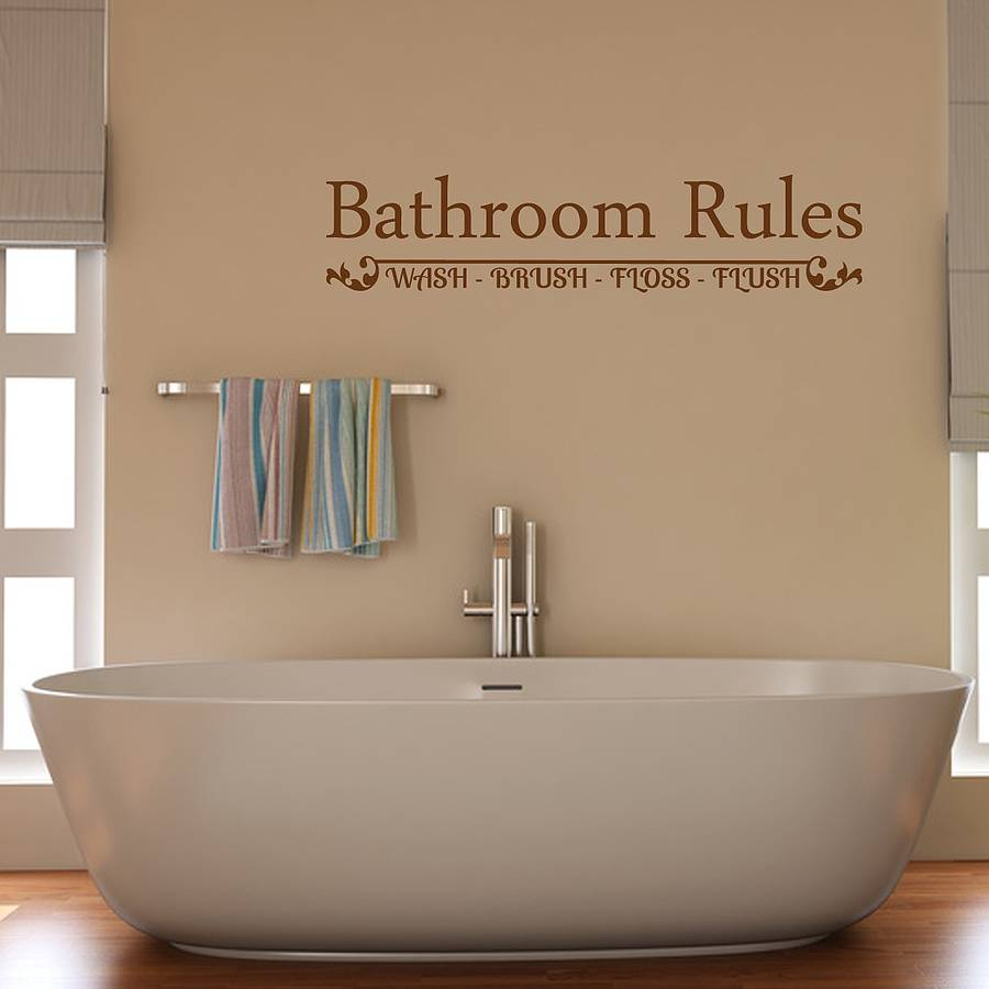 Wall quotes bathroom ideas quotesgram for Bathroom quote ideas