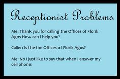 Receptionist Day Funny Quotes