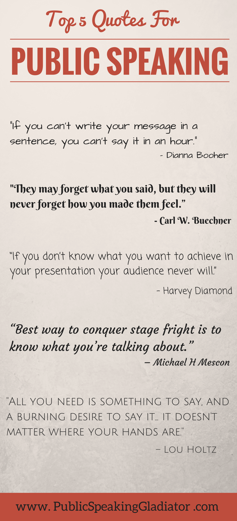 Simply inspiring public speaking