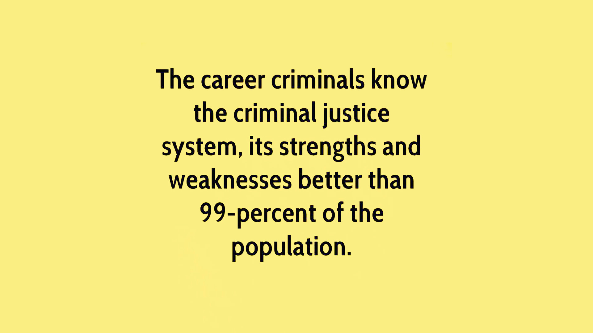 television shows that depict the components of the criminal justice system West lafayette, ind - people who watch forensic and crime dramas on tv are more likely than non-viewers to have a distorted perception of america's criminal justice system, according to new research from purdue university these kinds of shows, such as 'csi: crime scene investigation,' 'law.
