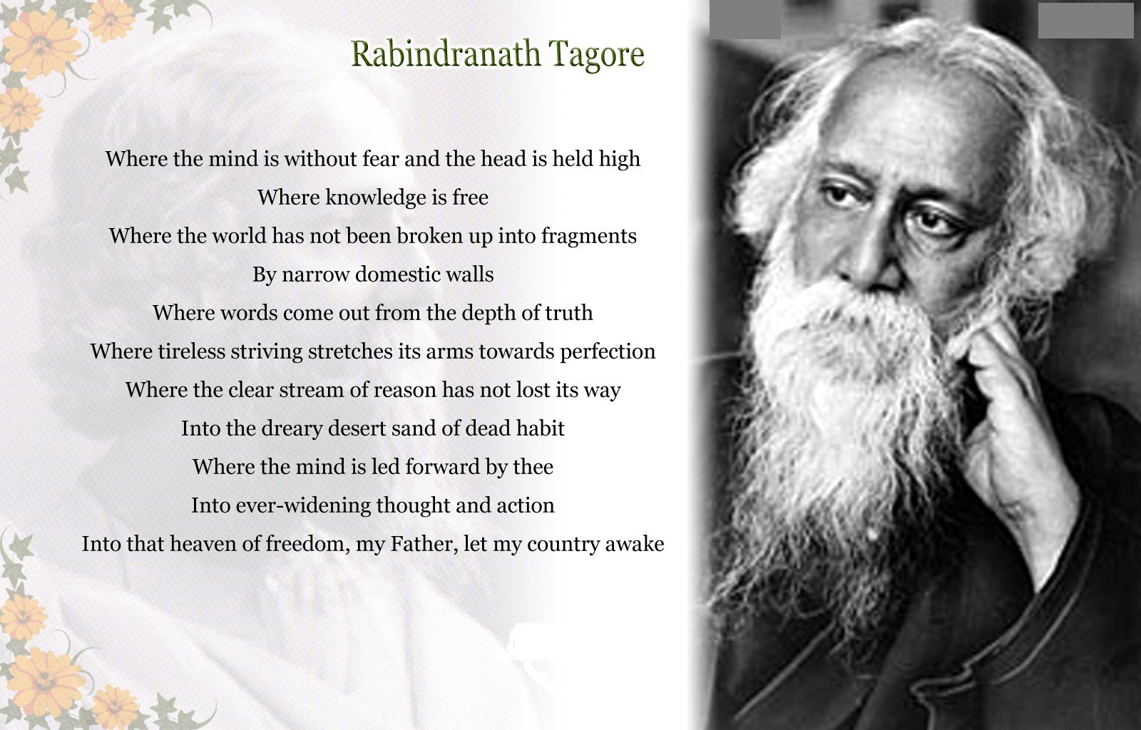 List of works by Rabindranath Tagore