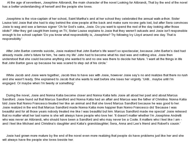"looking for alibrandi john barton essay Good essays for looking for alibrandi 2008 class essay topics (july) looking for alibrandi year 11 visual text study she is ""part of john barton's world."