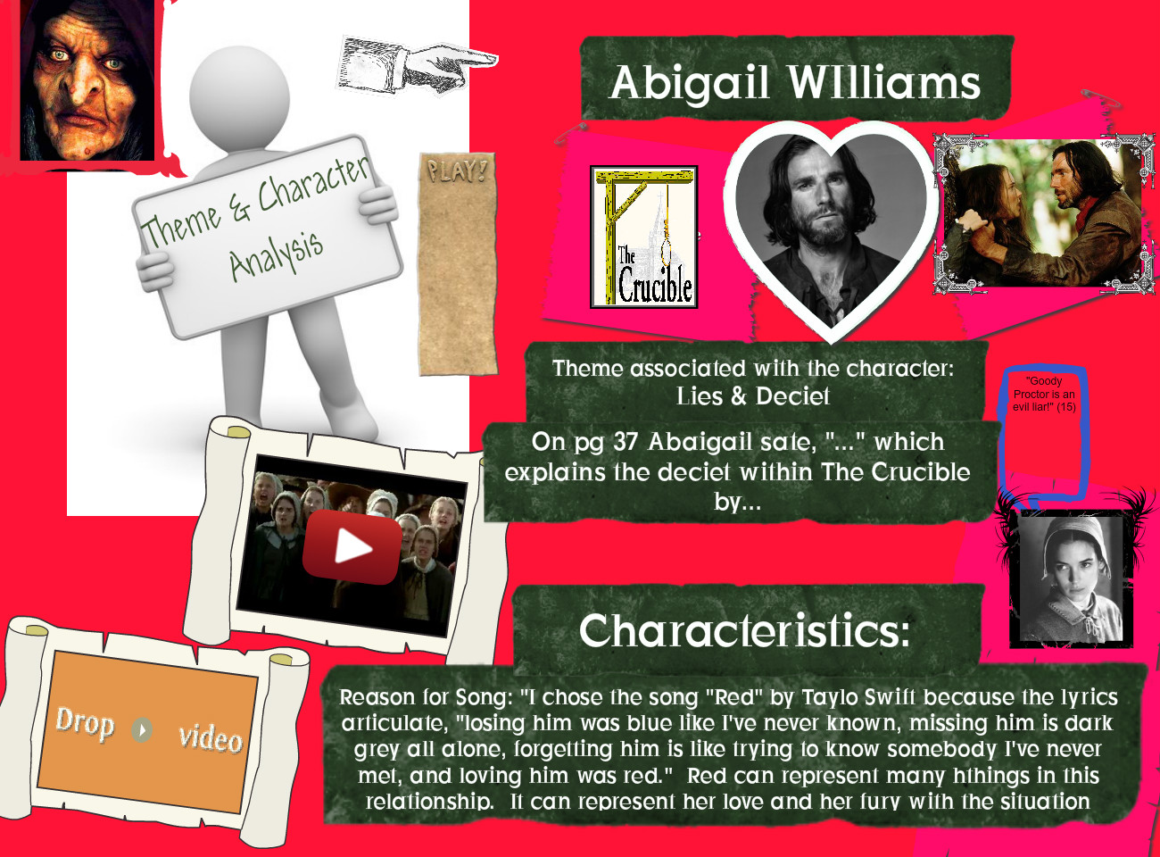 Abigail Williams Character Analysis of the Crucible Essay
