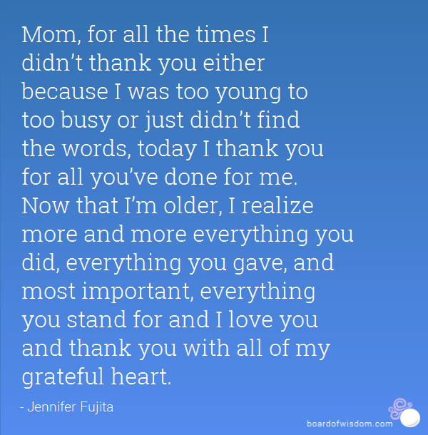 So Thankful For My Mom Quotes: Mother Appreciation Quotes. QuotesGram