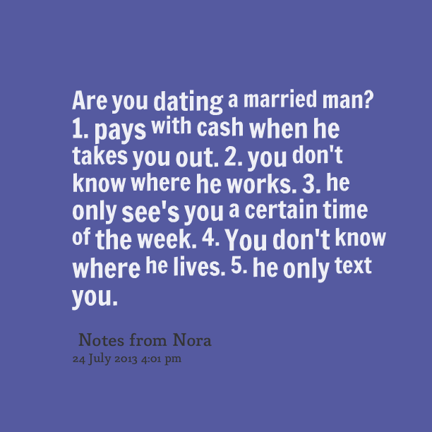 Dangers in dating a married man