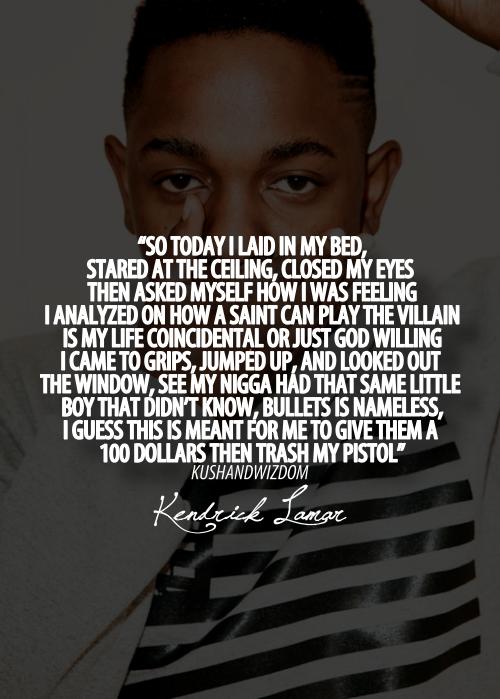 Famous Kendrick Lamar Quotes. QuotesGram