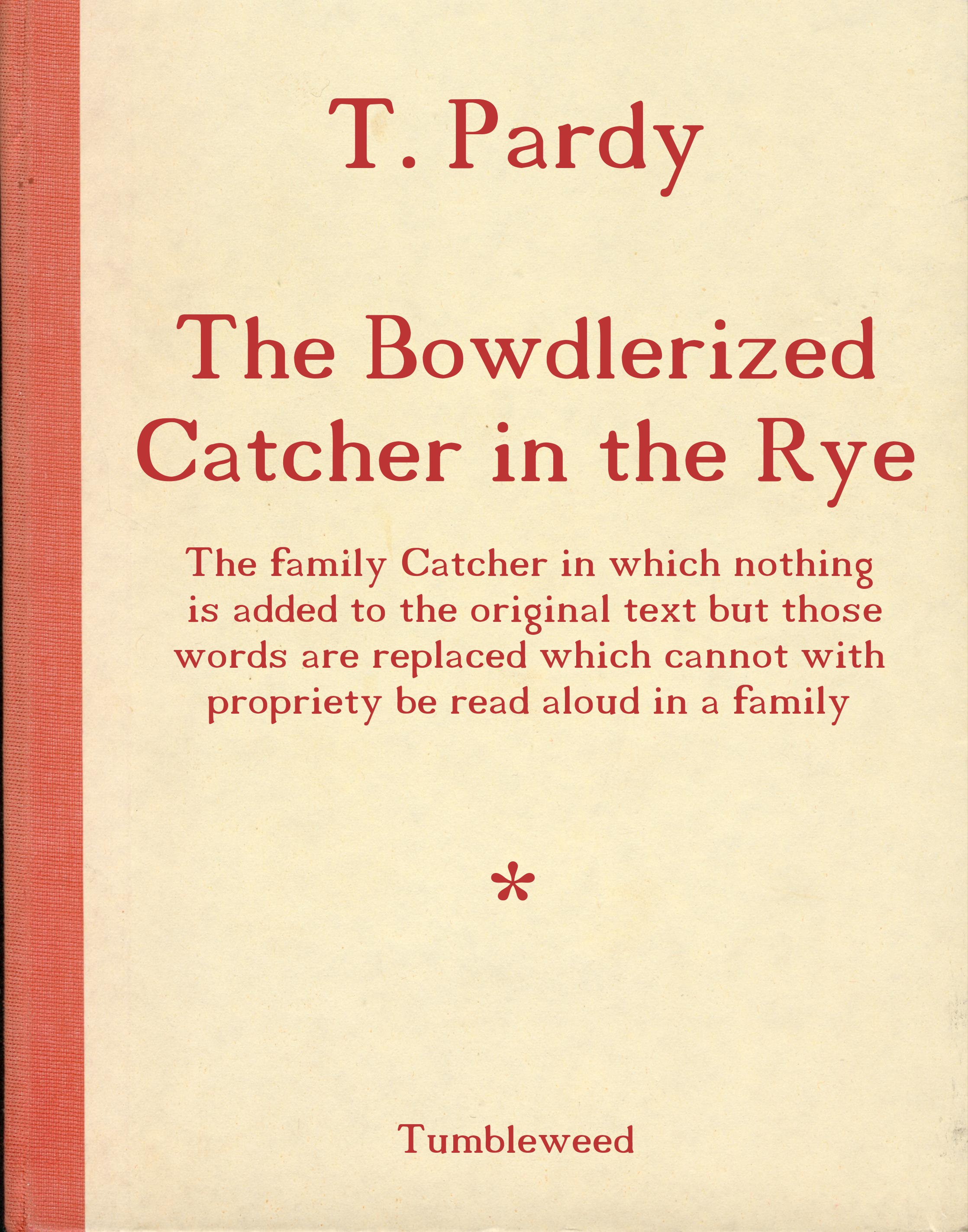 The Catcher in the Rye (Chap. 1)