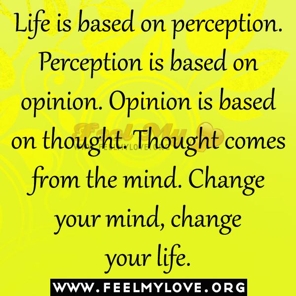 Positive Perception Quotes Quotesgram