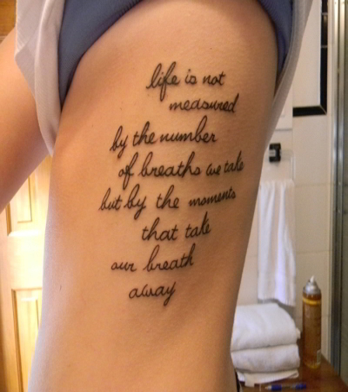 Quotes For Girls Side Tattoos Quotesgram: Quotes On Rib Cage. QuotesGram
