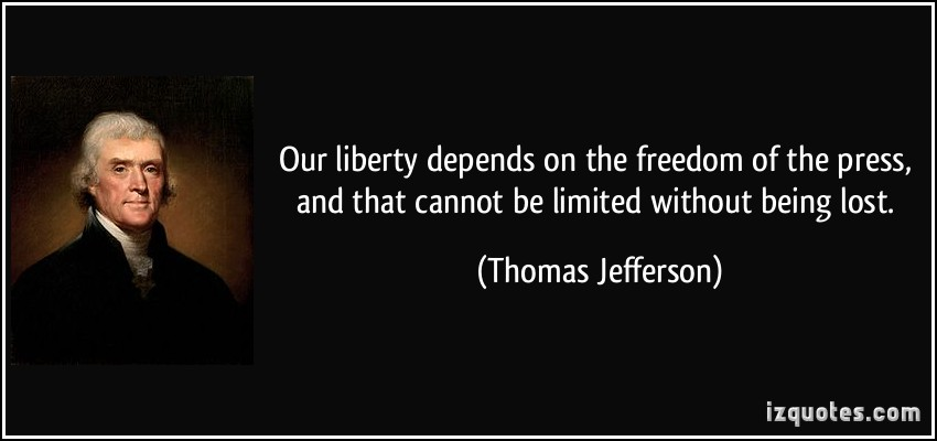 limiting the freedom of the press Should there be limits on freedom of speech the first time the supreme court sided with freedom of speech was in 1930 have we gone too far in claiming rights not enumerated in the constitution.