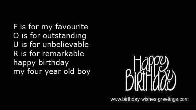 Happy Fourth Birthday Quotes Quotesgram Happy 4th Birthday Wishes To My