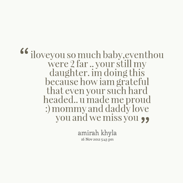 Missing father quotes from daughter