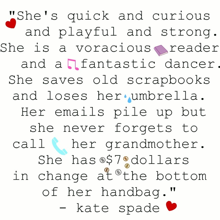The Kate Spade Girl Quotes. QuotesGram
