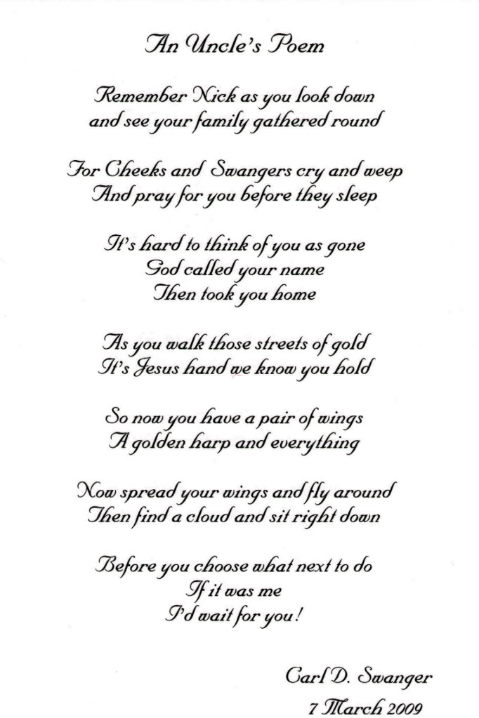 Funeral Quotes For A Uncle. QuotesGram