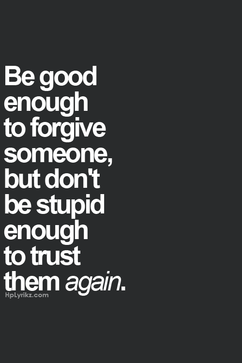 how to know if you can trust someone again