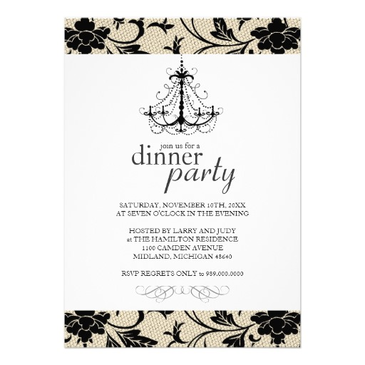 Blank Dinner Party Invitation