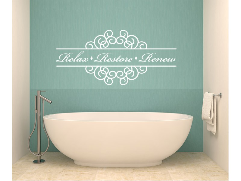 Bathroom quotes wall decals quotesgram for Bathroom decor quotes