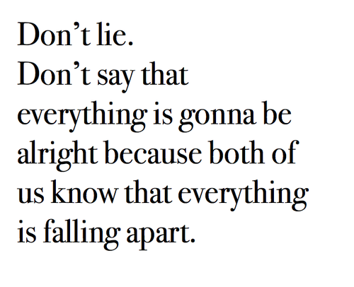 Quotes About Relationships Falling Apart Tumblr