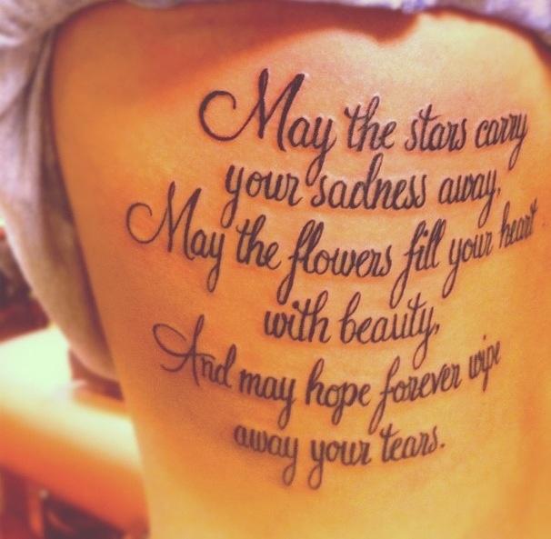 Tattoo Quotes And Poems Quotesgram: Sad Tattoo Quotes. QuotesGram