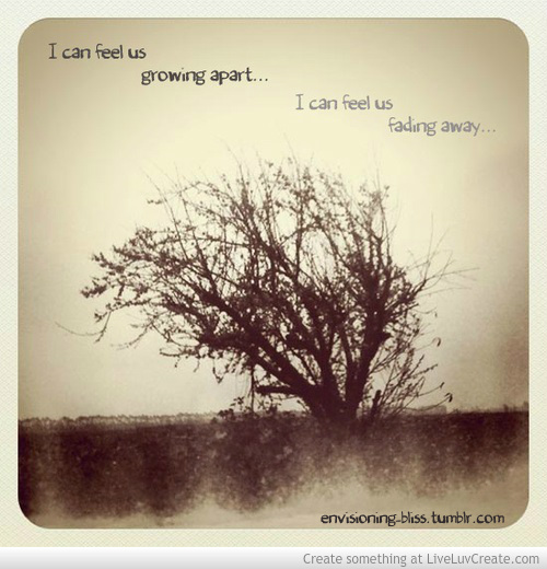 Growing Apart: Quotes About Relationships Growing Apart. QuotesGram