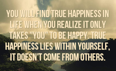 Happiness Within Yourself Quotes. QuotesGram