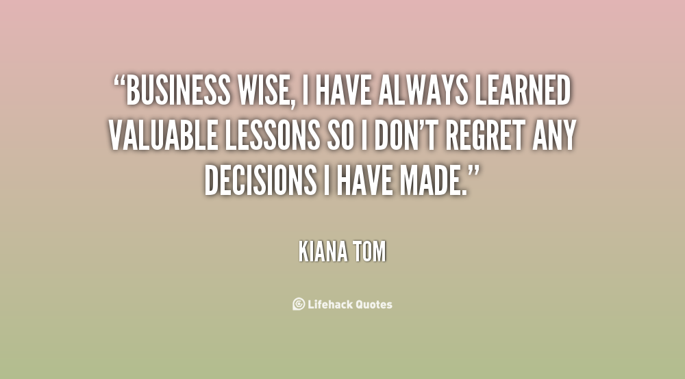 Business Lessons Learned Quotes. QuotesGram