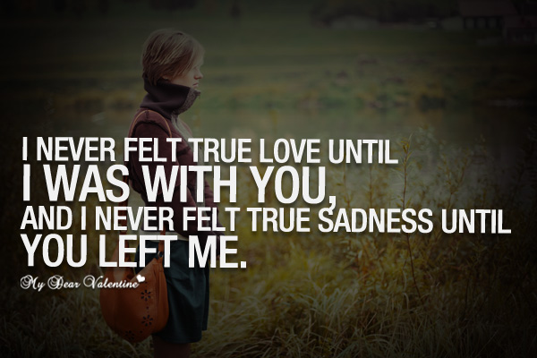 You Left Me Quotes For Her. QuotesGram