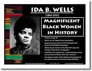 they say ida b wells The ida b wells society for investigative reporting aims to increase the ranks,   because they were so young and so little, people would punch them, trip them,.