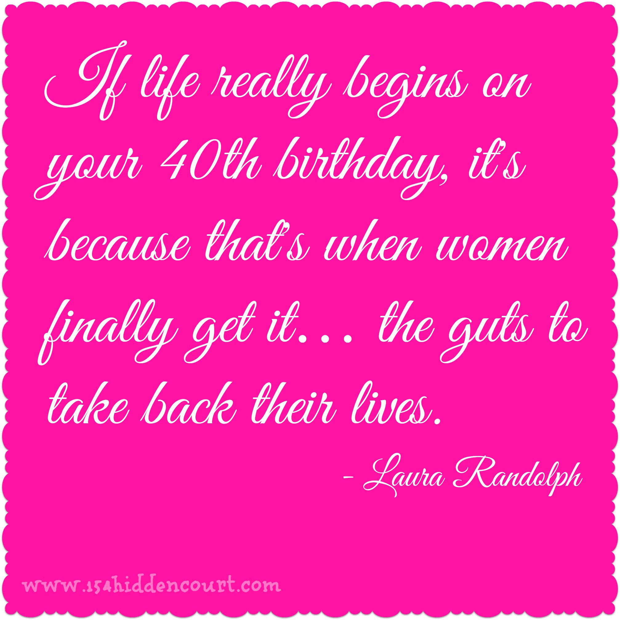 40th Birthday Quotes For Women. QuotesGram