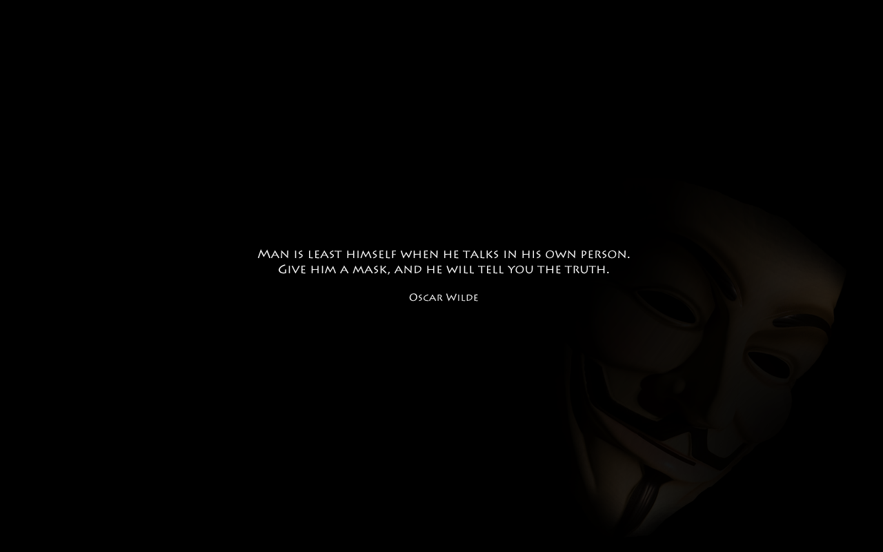 Anonymous Mask Quotes Quotesgram
