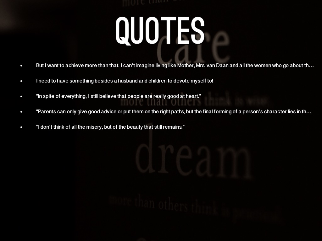Peter Van Daan Quotes Quotesgram