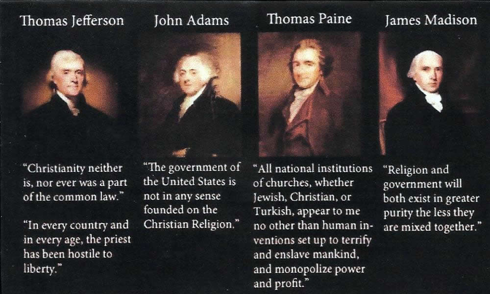 founding fathers and religion the united Founding the fathers: early church history and protestant professors in nineteenth-century america (divinations: rereading late ancient religion) apr 12, 2011 by elizabeth a clark.