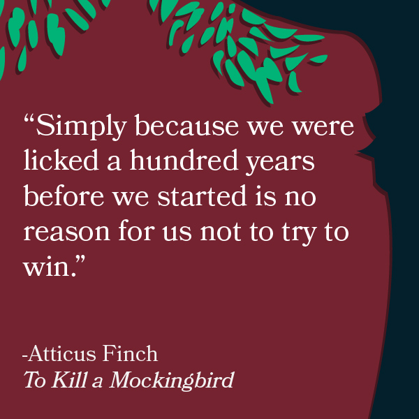 How is Atticus Finch portrayed as being a mockingbird in Harper Lee's To Kill a Mockingbird?