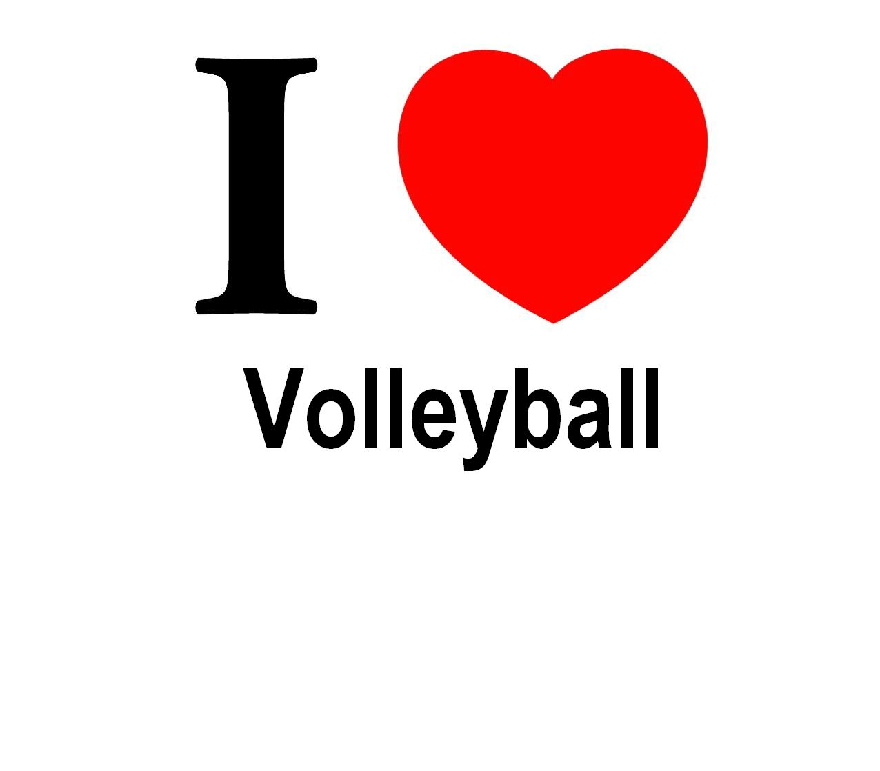 I Love Volleyball Quot...